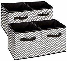 BrilliantJo Storage Cube Boxes Set of 4, Foldable