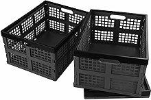 Bringer 30 L Plastic Collapsible Storage Bin, Set