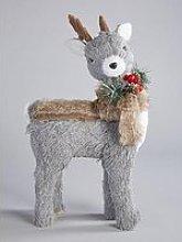 Bristle Reindeer Christmas Decoration