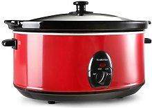 Bristol 65 Slow Cooker 6.5 Litre 300W Red