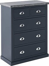 Bristol Grey 2 over 3 Large Chest of Drawers