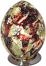 Britalia LED Amber Mosaic Glass Vintage Egg Table