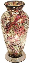 Britalia LED Amber Orange Mosaic Glass Vintage