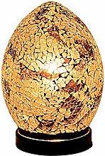 Britalia LED Autumn Gold Mosaic Glass Vintage Egg