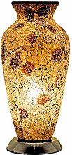 Britalia LED Autumn Gold Mosaic Glass Vintage Vase