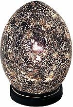 Britalia LED Black Mosaic Glass Vintage Egg Table
