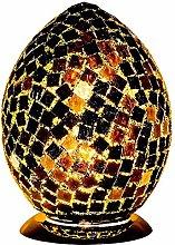 Britalia LED Black Mosaic Tile Vintage Egg Table