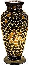 Britalia LED Black Mosaic Tile Vintage Vase Table