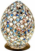 Britalia LED Blue Mosaic Tile Vintage Egg Table