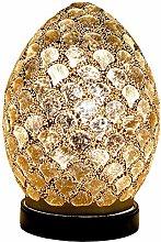 Britalia LED Gold Mosaic Glass Vintage Egg Table