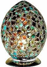 Britalia LED Green Mosaic Glass Vintage Egg Table