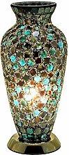 Britalia LED Green Mosaic Glass Vintage Vase Table