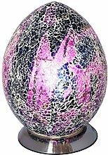 Britalia LED Purple Mosaic Glass Vintage Egg Table