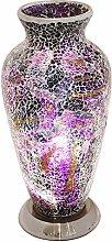 Britalia LED Purple Mosaic Glass Vintage Vase