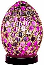 Britalia LED Purple Mosaic Tile Vintage Egg Table