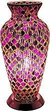Britalia LED Purple Mosaic Tile Vintage Vase Table