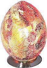 Britalia LED Red Mosaic Glass Vintage Egg Table