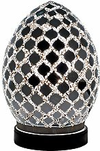 Britalia LED Silver Mirrored Mosaic Glass Vintage