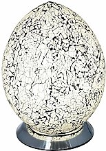 Britalia LED White Mosaic Glass Vintage Egg Table