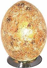 Britalia LED Yellow Mosaic Glass Vintage Egg Table