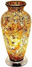 Britalia LED Yellow Mosaic Glass Vintage Vase
