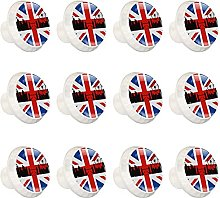 British Flag with London Cityscape Knobs for