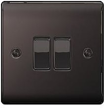 British General Electrical Raised 2G 2-Way Switch