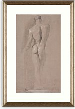 British Library - Michelangelo Nude Male Framed