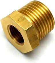 British Made 1/2 X 1/4 Brass Reducing Bush Bspt X