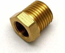 British Made 1/4 X 1/8 Brass Reducing Bush Bspt X