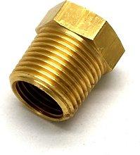 British Made 3/8 X 1/4 Brass Reducing Bush Bspt X