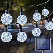 BrizLabs 100 LED Solar Fairy Lights Balls Crystal