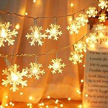 BrizLabs Christmas Snowflake Lights Indoor 2 Pack