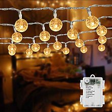 BrizLabs Globe String Lights Battery Operated 50