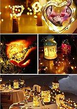 BrizLabs Wine Bottle Lights 7 Pack 2M 20 LED