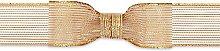 Brizzolari Tape Textile Mesh, Fabric, Gold, 6x