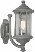 Brompton gray and glass 1-light wall light