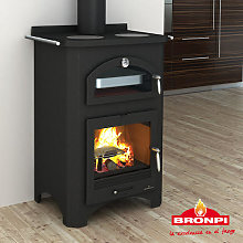 Bronpi Monza Wood Burning Stove with Oven and Cast