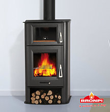 Bronpi Tudela Wood Burning Stove with Oven 13Kw