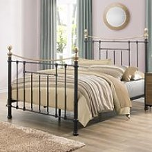 Bronte Black Metal Bed Frame - 5ft King Size