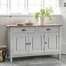 Bronte Sideboard In Taupe With 3 Doors And 2