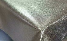 Bronze Copper Gold Shimmer Wipe Clean Table Cloth