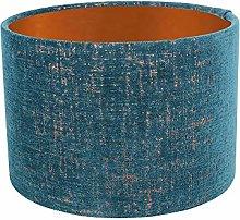 Bronze Lined Teal Zonda Drum Lampshade (25 cm