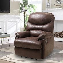 Bronzing Leather Recliner Sofa Adjustable