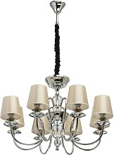 Brook Lane 8-Light Shaded Chandelier Marlow Home