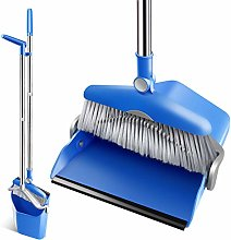 Broom and Dustpan Set Cleaning Supplies with 130cm