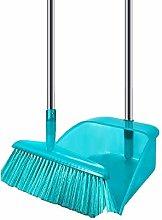 Broom and Dustpan Set, Long Handled Dustpan and