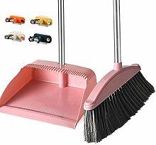 Broom And Dustpan Set, New Upgraded Anti-Stress