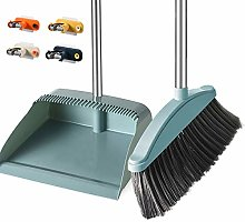 Broom And Dustpan Set, New Upgraded Anti-Stress