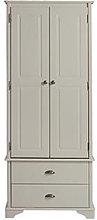 Brora Wooden Wardrobe In Grey With 2 Doors And 2